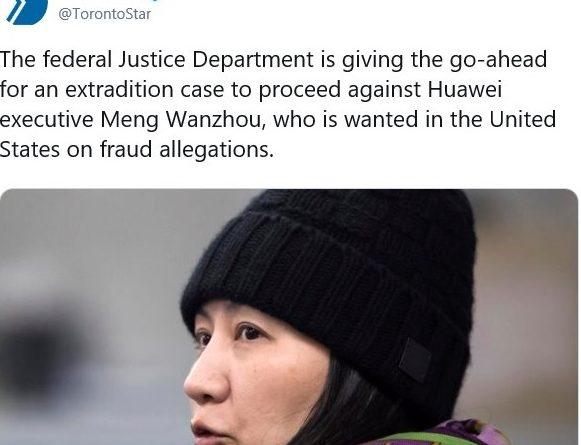 加宣布批准启动引渡孟晚舟程序  纽约法庭14日开审华为